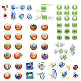 Icons and buttons. 3d render of icons and buttons Stock Photo