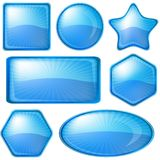 Icons buttons blue, set Royalty Free Stock Image