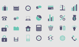 Icons and buttons color Royalty Free Stock Photos
