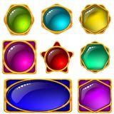 Icons Buttons Colorful, Set Stock Photography