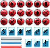 Icons buttons set Stock Images