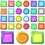 Icons buttons, set Royalty Free Stock Photo
