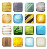 Icons And Buttons Set For Mobile App And Game Ui Royalty Free Stock Photography