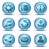 Icons And Buttons For Ui Game Royalty Free Stock Photography