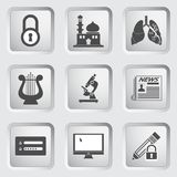 Icons on the buttons for Web Design. Set 10 Stock Photo