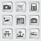 Icons on the buttons for Web Design. Set 3 Stock Images