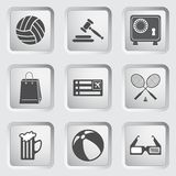 Icons on the buttons for Web Design. Set 1 Royalty Free Stock Photo