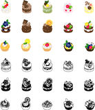 The icons of cakes Royalty Free Stock Image