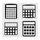 Icons Calculator, vector illustration. A set of flat black icons calculator, vector illustration Royalty Free Stock Image