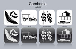 Icons of Cambodia Royalty Free Stock Photos