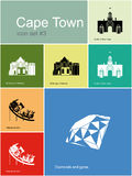 Icons of Cape Town Stock Photography