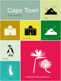 Icons of Cape Town Royalty Free Stock Photos