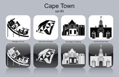 Icons of Cape Town Royalty Free Stock Photo