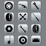 Icons for car and repair Royalty Free Stock Image