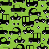 Icons of car seamless pattern Stock Images