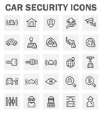 Icons. Car security icons isolated on white background Stock Photos