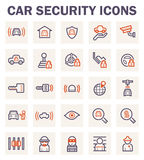 Icons. Car security icons on white background Royalty Free Stock Images