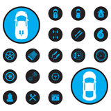 Icons car Stock Image