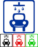 Icons for car wash Stock Images