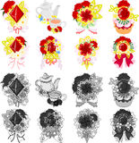 The icons of carnations Stock Images