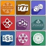 Icons Casino Stock Image