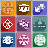 Icons Casino Stock Image