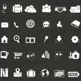 Icons on chalk Royalty Free Stock Photo
