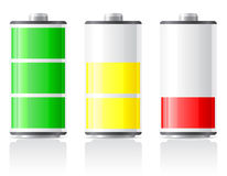Icons charge battery  illustration Stock Photos