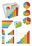 Icons And Chart Elements Stock Image