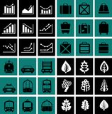 Icons  charts Royalty Free Stock Images