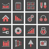 Icons charts Royalty Free Stock Photography