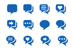 Icons for chat Stock Image