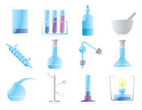 Icons for chemical lab stock illustration
