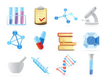 Icons for chemistry Stock Photo
