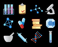 Icons for chemistry Royalty Free Stock Photos
