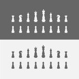 Icons chess pieces. Chess set. Stock Photography
