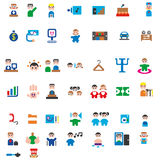 Icons for children`s hospital Royalty Free Stock Photos