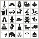 Icons of children's toys Stock Photo
