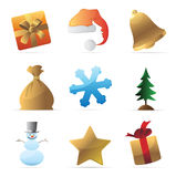 Icons for Christmas Stock Image