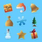 Icons for Christmas Stock Photos