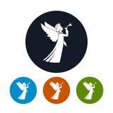 Icons Christmas Angel Stock Image