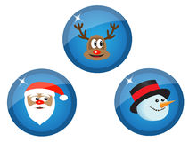 Icons with Christmas characters Royalty Free Stock Photos