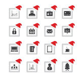 Icons with Christmas design Stock Photography