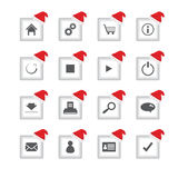 icons with Christmas design Royalty Free Stock Images