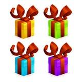 Icons Christmas Gift Royalty Free Stock Image