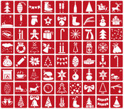 Icons Christmas and New Year Stock Photo