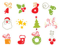 Icons - Christmas object vector illustration
