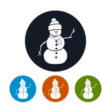 Icons Christmas Snowman Stock Photography