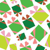 Icons of Christmas toys, gifts seamless pattern Stock Photo