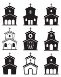 Icons of church buildings, vector  Stock Photography